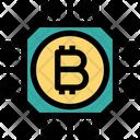 Bitcoins Chip Money Chip Icon