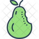 Bite Pear Cutting Icon