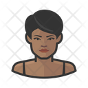 Black Asian Woman Average People Icon