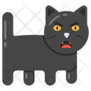 Black Cat Halloween Cat Animal Icon