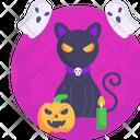 Halloween Cat Scary Icon