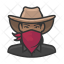 Black Cowgirl Bandit Black Icon