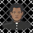 Black Father Catholic Clergy Icon