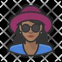 Black Female Shades Black Icon