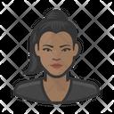 Black Female Shirt Black Icon