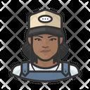Black Female Farmhand Icon