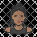 Black Female Trainer Icon