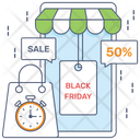 Black Friday Big Sale Shopping Discount Icon
