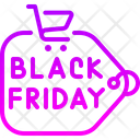 Black Friday Sale Tag Commerce And Shopping Icon