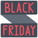 Black Friday Banner Discount Sales Icon