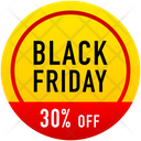 Black Friday Discount Banner Tag Icon
