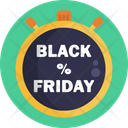 Black Friday Tag Black Friday Countdown Icon