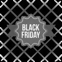 Black Friday Ribbon Icon