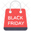 Black Friday Sale Shopping Bag Special Sale Icon