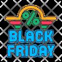 Friday Sale Color Icon