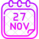 Calendar Sale Time Black Friday Icon