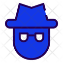 Black Hat Cyber Criminal Hacker Icon