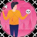 Magician Magic Tricks Halloween Party Icon