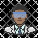 Black Male Chemist Chemist Black Icon
