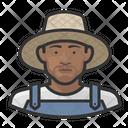 Black Male Farmers Icon
