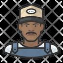 Black Male Farmhand Icon