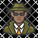 Black Male Investigator Icon