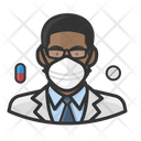 Avatar Pharmacist Black Icon