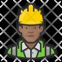 Black Male Road Crew Icon