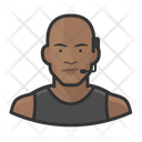 Black Male Trainer Icon