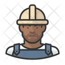 Black Male Workers Construction Workers Icon