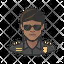 Black Police Officer Police Officer Icon