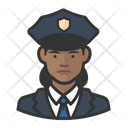 Black Police Officers Female Police Officers Black Icon