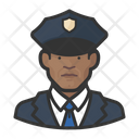 Black Police Officers Male Police Officers Police Icon