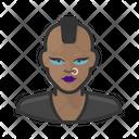 Punk Black Female Icon
