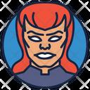 Black Widow Scary Woman Villain Icon