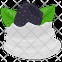 Blackberry Whip Whipped Cream Whipped Blackberry Icon