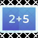 Mathematics Calculation Black Board Icon
