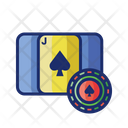 Blackjack Backcarat Card Game Icon