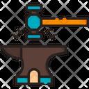 Blacksmith Anvil Hammer Icon