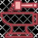 Blacksmith Hammer Anvil Icon