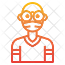 Blad Man With Facemask Icon