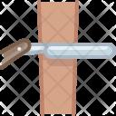Blade Leather Razor Icon