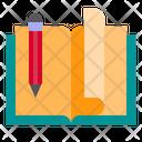 Book Open Pen Icon