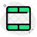 Blank Cell Interface Essentials Table Green F Icon