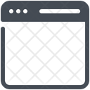 Blank Webpage Web Icon