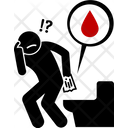 Bleeding Anus Blood Icon