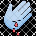 Bleeding Blood Hand Icon