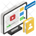 Blended Learning Distance Education Virtual Learning Icon