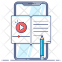 Blended Learning Mobile Education Mobile Learning Icon