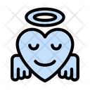 Blessed Face Emoji Icon